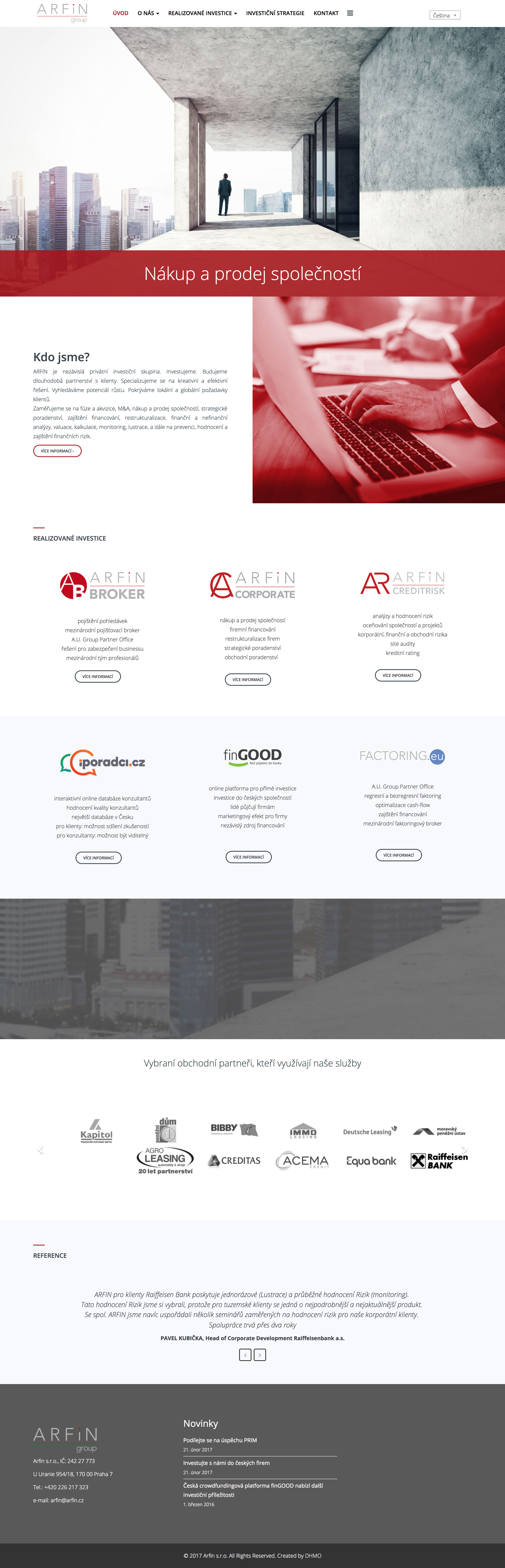 Arfin Group webdesign